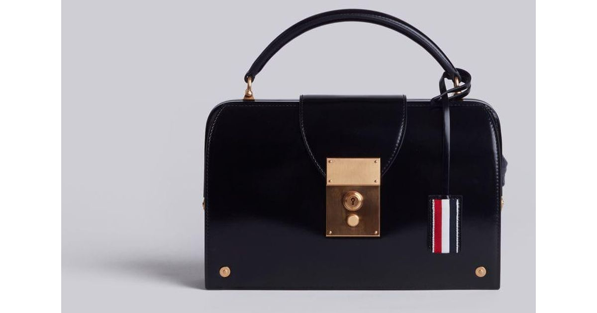 aa8be8ee332f Lyst - Thom Browne Brogued Mrs. Thom Pocketbook in Black - Save  11.627906976744185%