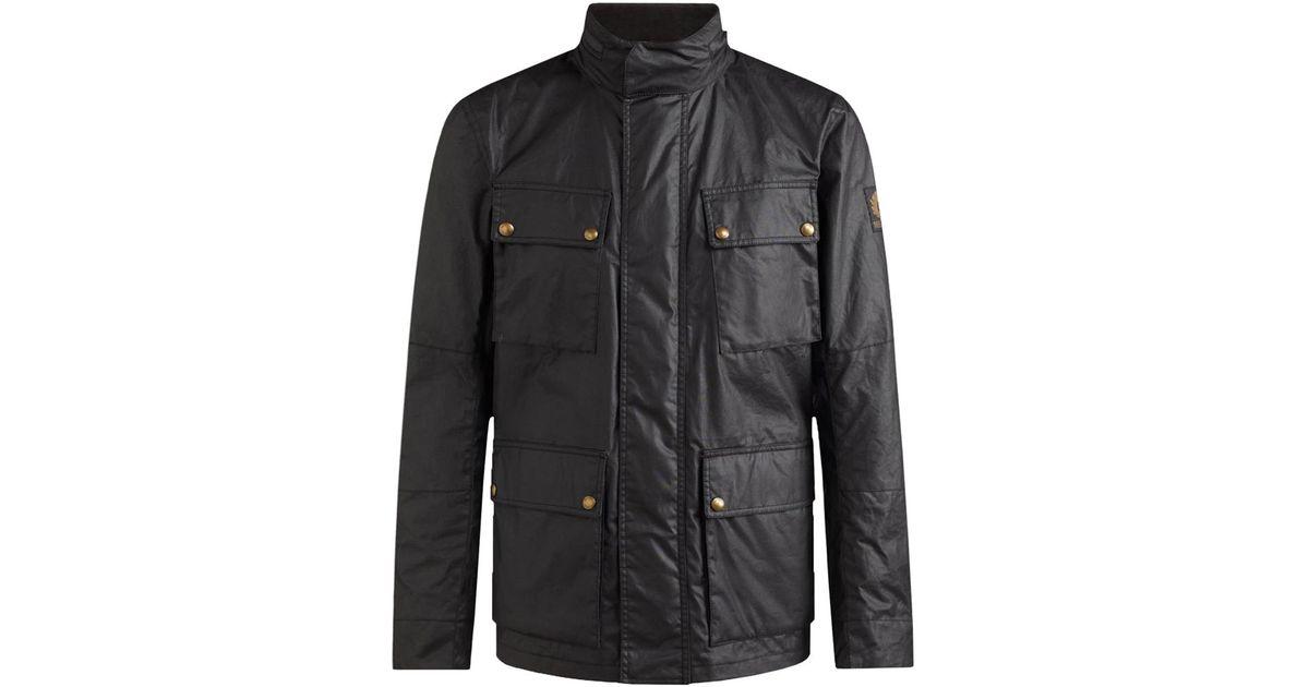 4373745662 Lyst - Belstaff Explorer Jacket Black in Black for Men - Save 5%