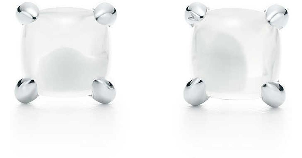 5a136cb70 Paloma's Sugar Stacks Earrings In Sterling Silver With Milky Quartz in  Metallic - Lyst