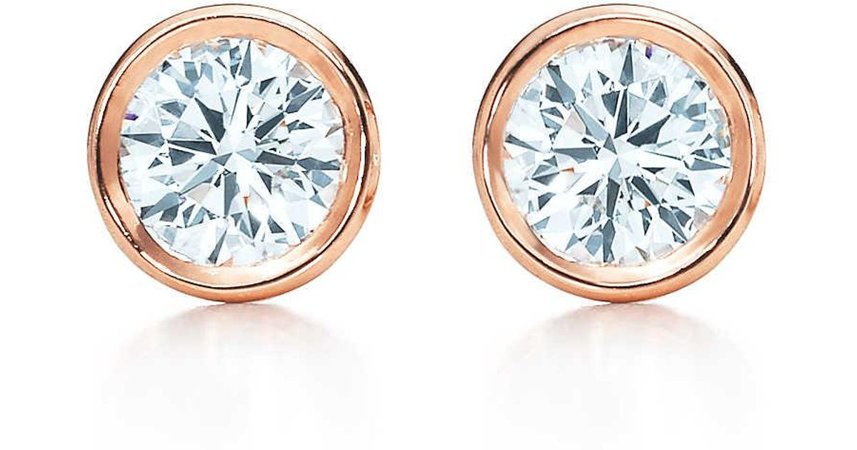 ee7235836 Tiffany & Co. Elsa Peretti. Diamonds By The Yard. Earrings In 18k Rose Gold  - 20 in Pink - Lyst