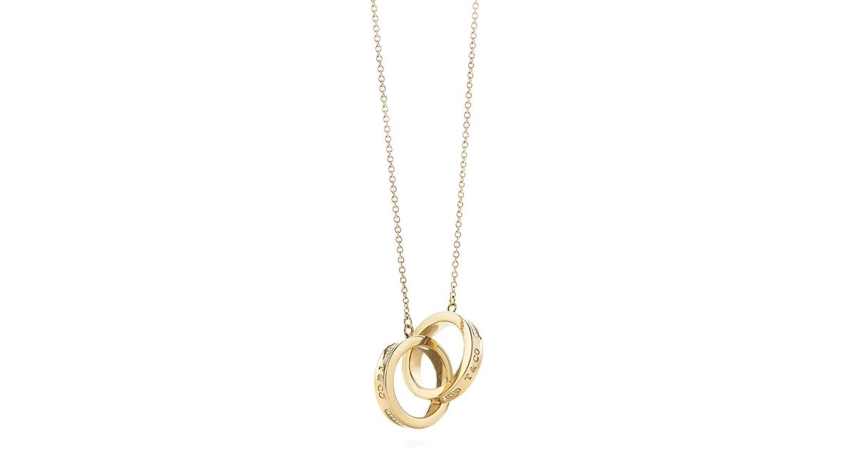 49471b121 Tiffany Co Interlocking Circles Pendant In Metallic Lyst. Wishbone Necklace  Silver Uk