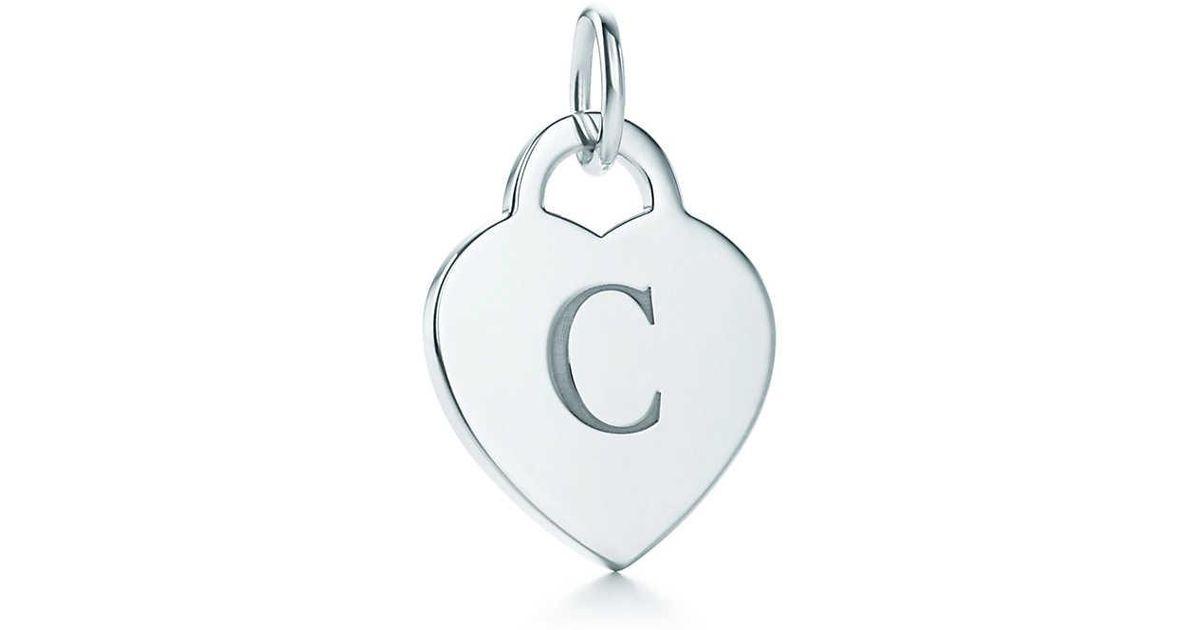 Charme Alphabet Lettre Coeur Tag L En Lettres D'argent Sterling Az Disponible - Taille L Tiffany & Co. F7FYrE