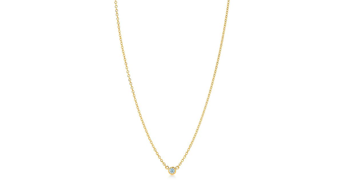 Tiffany co elsa peretti diamonds by the yard pendant in 18k gold diamonds by the yard pendant in 18k gold size 05 in metallic lyst aloadofball Gallery