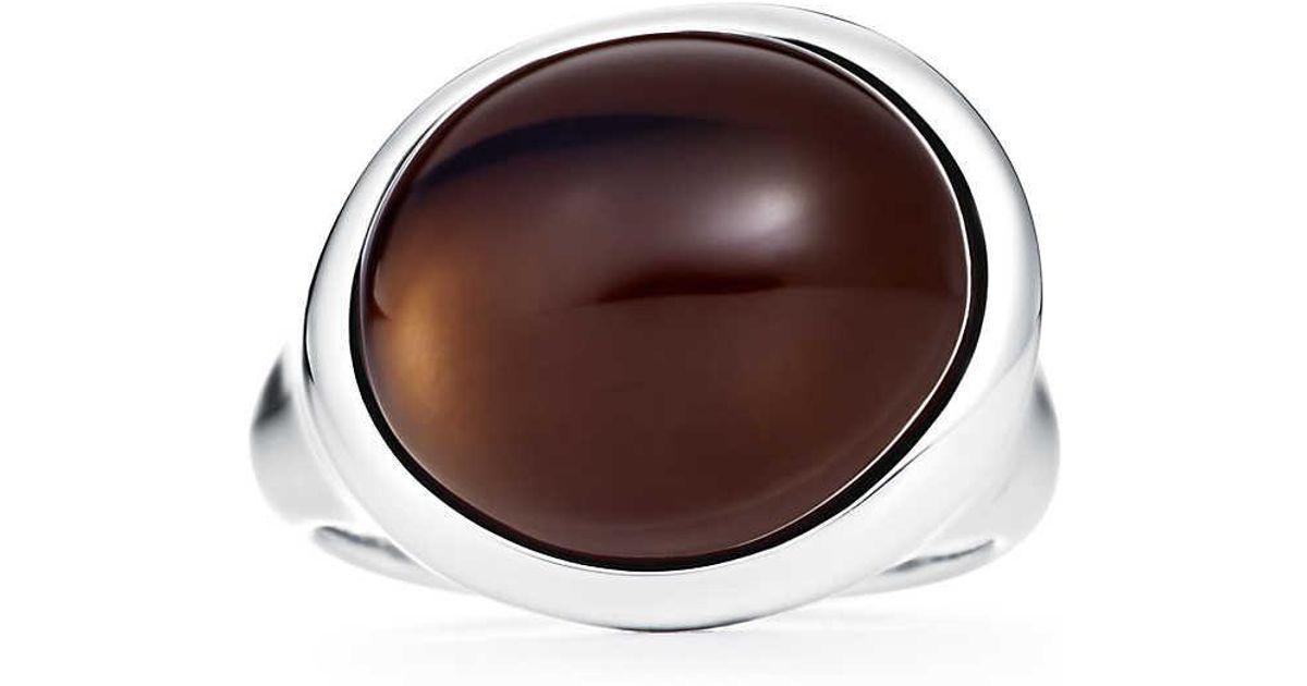 e920972e3 Tiffany & Co. Cabochon Ring in Metallic - Lyst