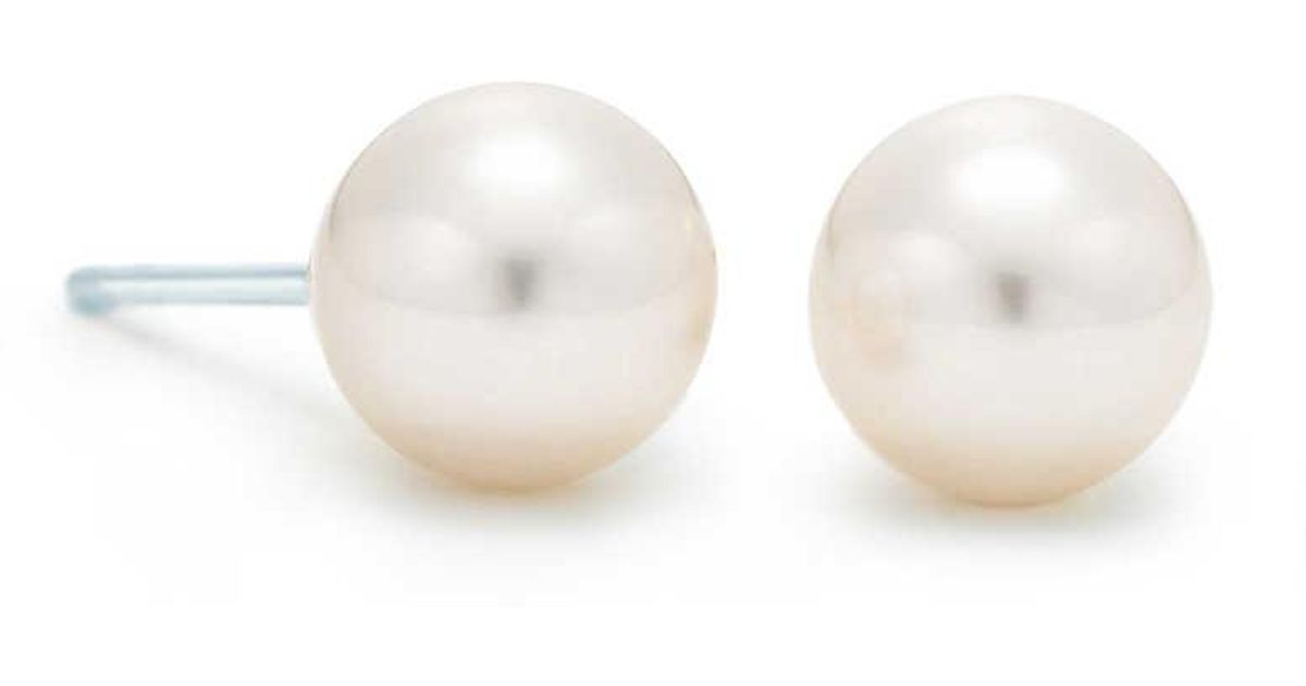 Tiffany Signature earrings of Akoya cultured pearls in 18k white gold - Size 6-6.5MM Tiffany & Co. 1WsC3w