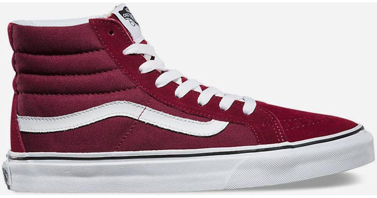 598c152eccd2e1 Lyst - Vans Sk8-hi Slim Windsor Wine Womens Shoes