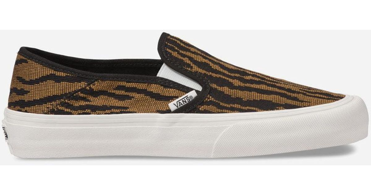 e31d61bacd Lyst - Vans Woven Tiger Slip-on Sf Womens Shoes in Black