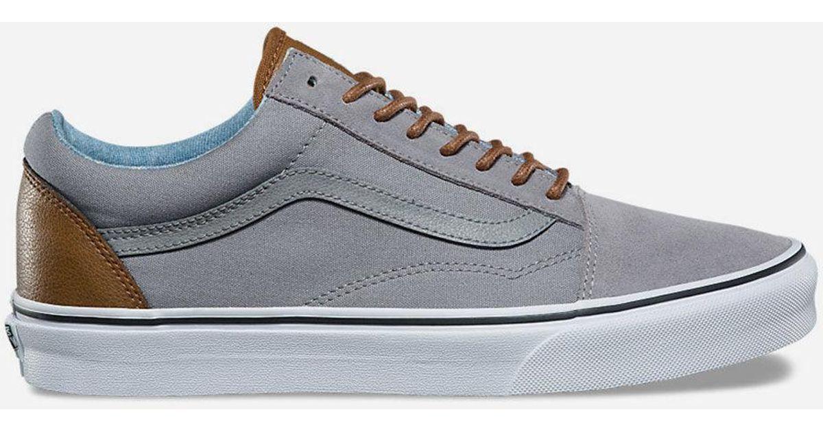 8d3c3b08dcfc91 Lyst - Vans C l Old Skool Frost Grey   Acid Denim Mens Shoes in Gray for Men