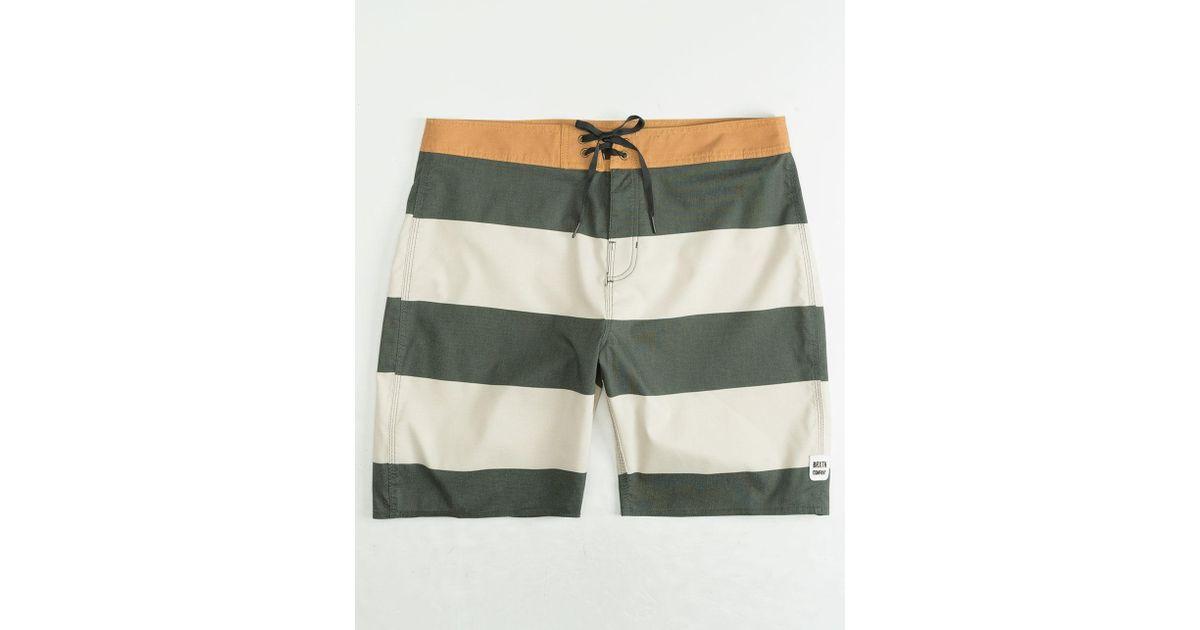 2626270044e71 Brixton Barge Stripe Mens Boardshorts in Green for Men - Lyst