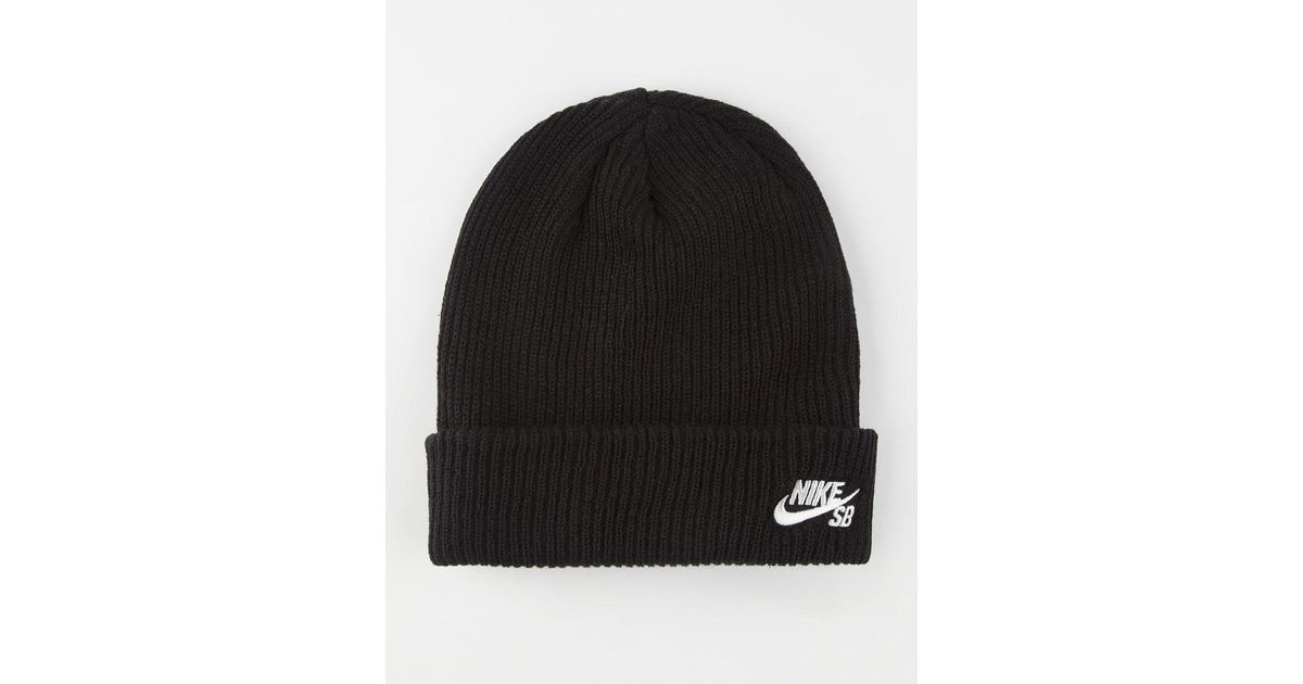 60b554bf Nike Fisherman Beanie in Black for Men - Save 38% - Lyst