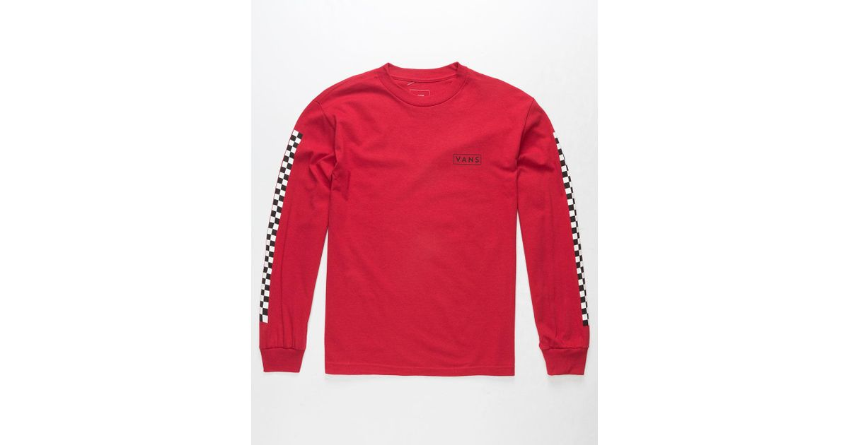 5704231e Vans Checkmate Mens T-shirt in Red for Men - Lyst