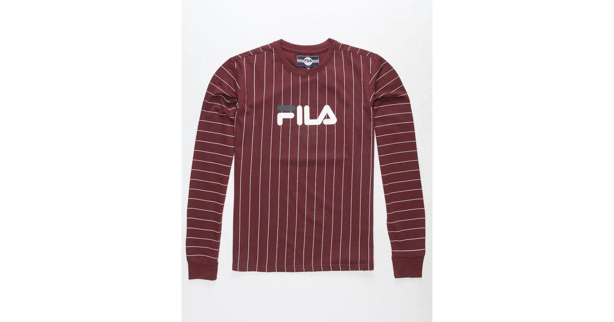fbfeef946f2 Lyst - Fila Mario Mens T-shirt in Red for Men