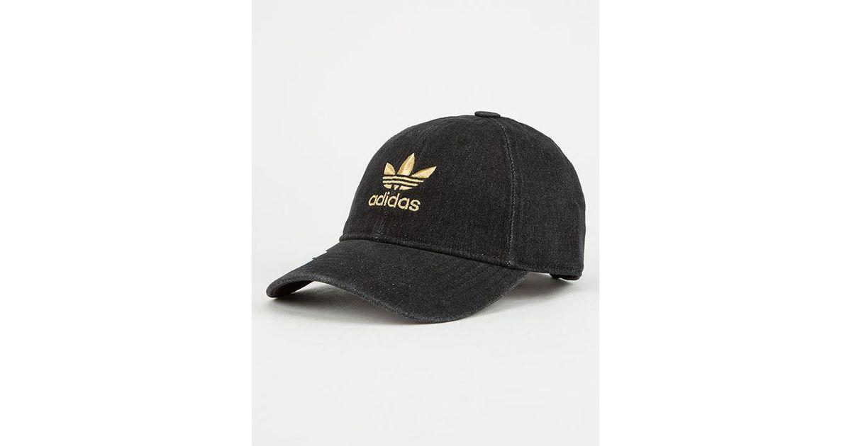 6bd6d587e79 Lyst - adidas Originals Relaxed Denim Womens Dad Hat in Black
