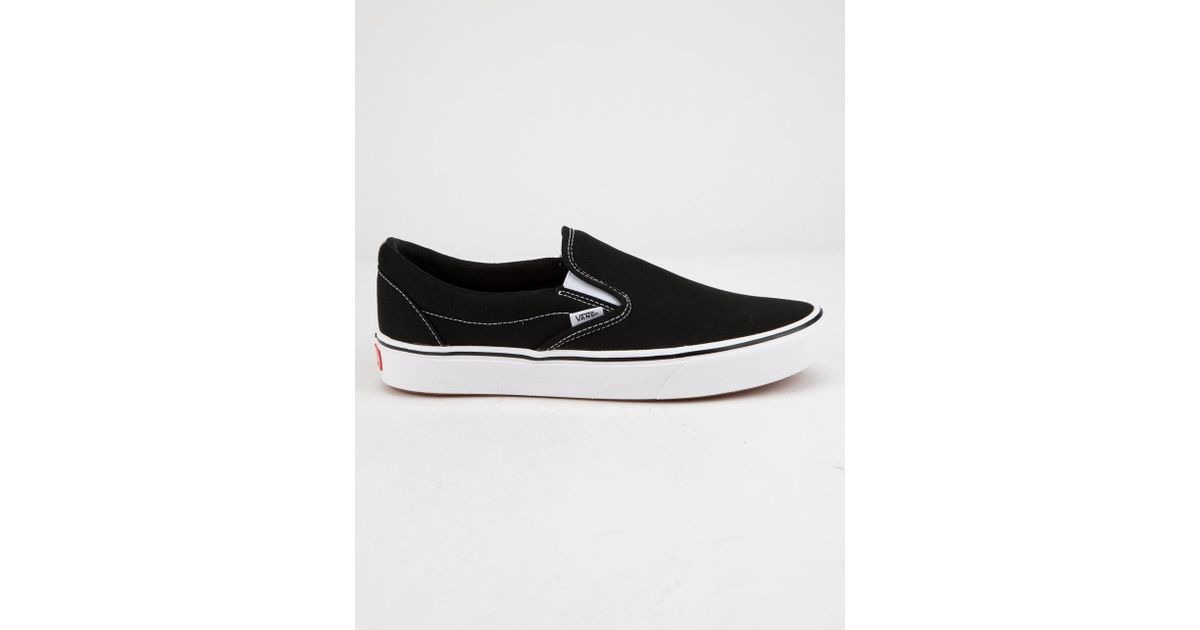 be73f341a3e Lyst - Vans Comfycush Classic Slip-on Black   True White Shoes in Black