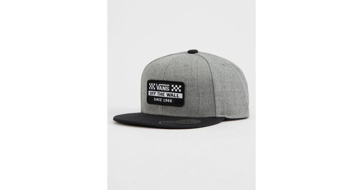 Lyst - Vans Hickam Mens Snapback Hat in Gray for Men 70efd14f5c0
