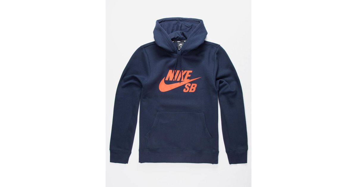 b97dae6a22fa Lyst - Nike Sb Icon Navy   Red Mens Hoodie in Blue for Men