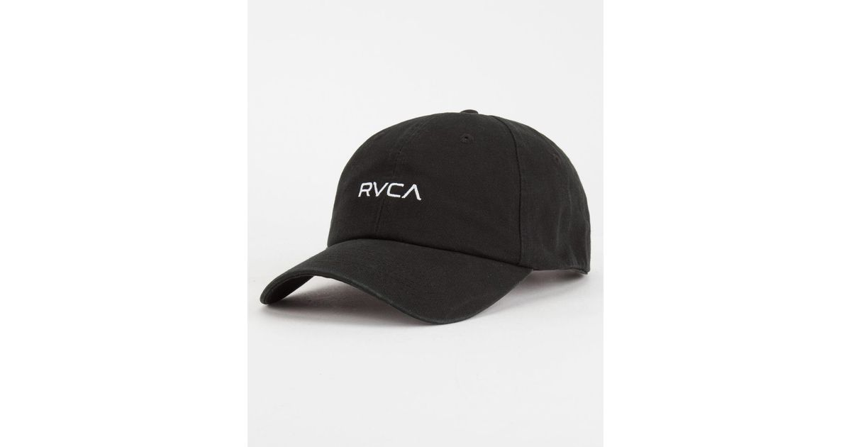 12219d5a744 ... uk lyst rvca larry mens dad hat in black for men 24d51 d5687 ...