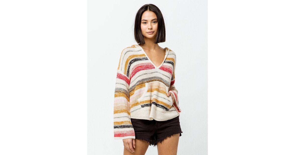 e5752f850e Billabong Baja Beach Stripe Womens Hooded Sweater - Lyst