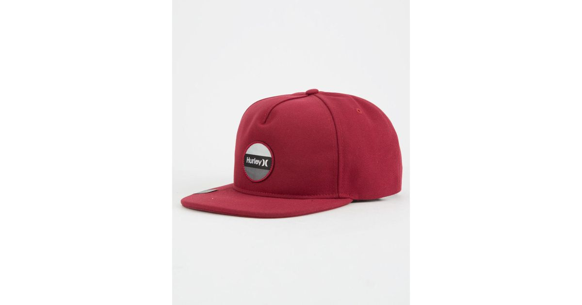 Lyst - Hurley Circular Mens Snapback Hat in Red for Men 8b90eb6927f4
