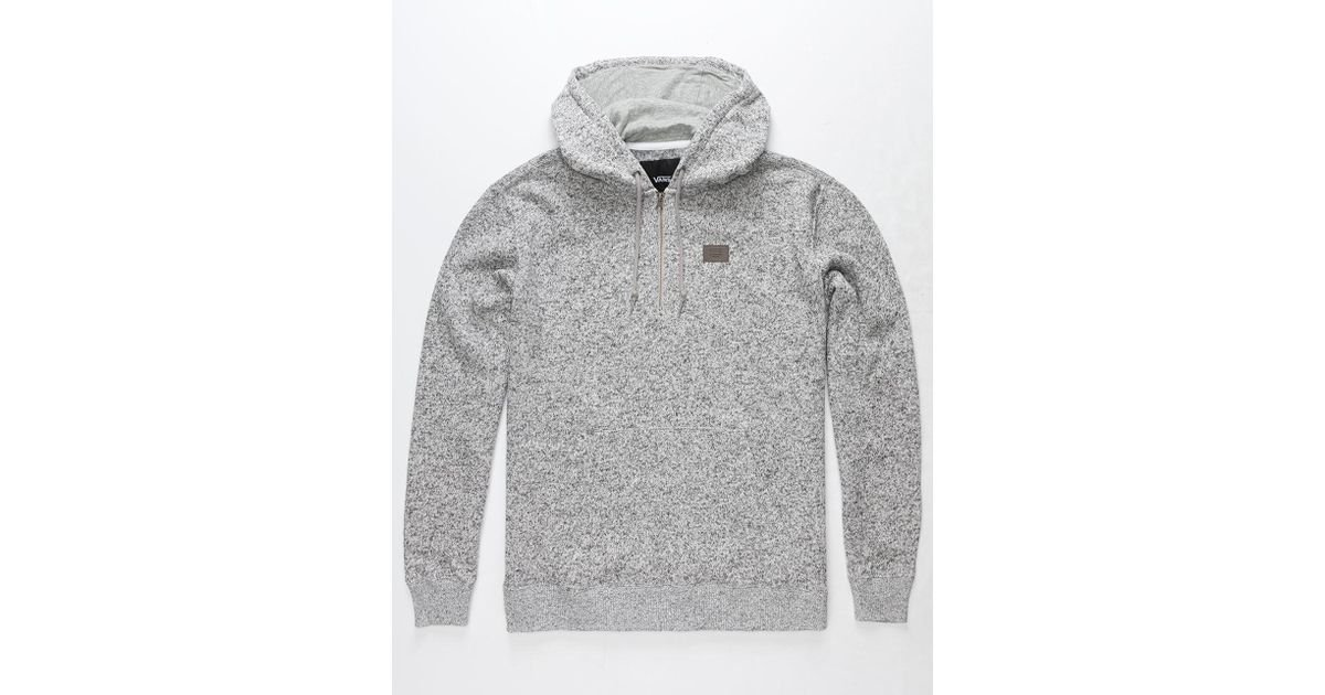 5766129158 Lyst - Vans Flurry 1 2 Zip Fleece (lunar Rock Heather) Men s Fleece in Gray  for Men