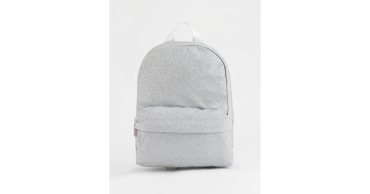 48220f11866a Converse - Metallic X Miley Glitter Silver Mini Backpack - Lyst