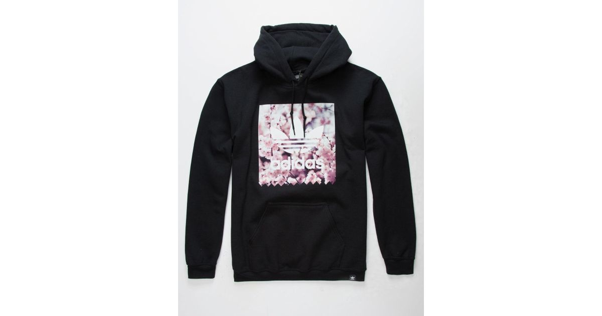 7096ab2a0 adidas Cherry Blossom Blackbird Mens Hoodie in Black for Men - Lyst
