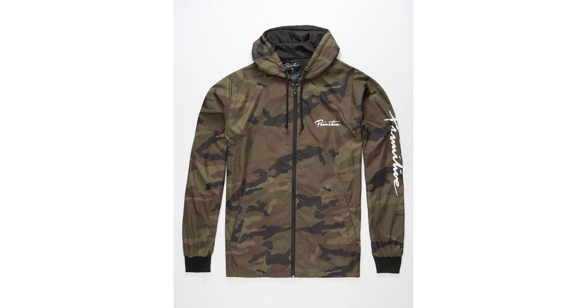 473ab232600c4 Primitive Primitive Arch Camo Mens Windbreaker Jacket in Green for Men -  Lyst