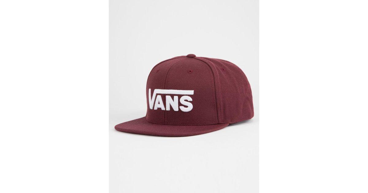 Lyst - Vans Drop V Ii Burgundy Mens Snapback Hat in Red for Men 3ac3df03a