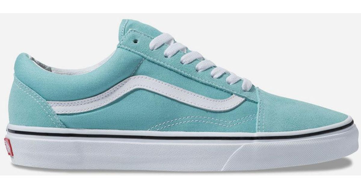 60aabc72ce Lyst - Vans Old Skool Aqua Haze   True White Shoes