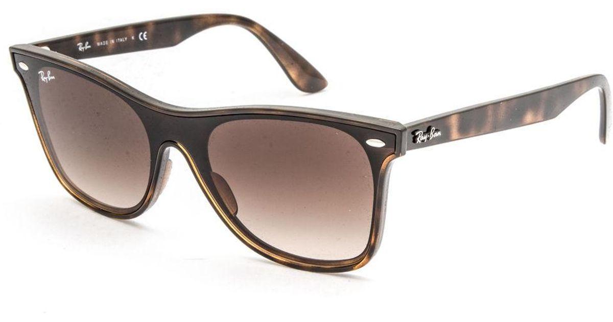 b8acacdcf403 Lyst - Ray-Ban Blaze Wayfarer Havana Sunglasses in Brown