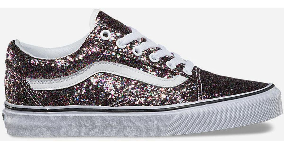 9eb5faef854b06 Lyst - Vans Chunky Glitter Old Skool Womens Shoes