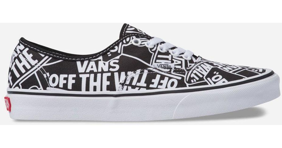2a8c49dbbc Lyst - Vans Otw Repeat Authentic Black   White Shoes in White for Men