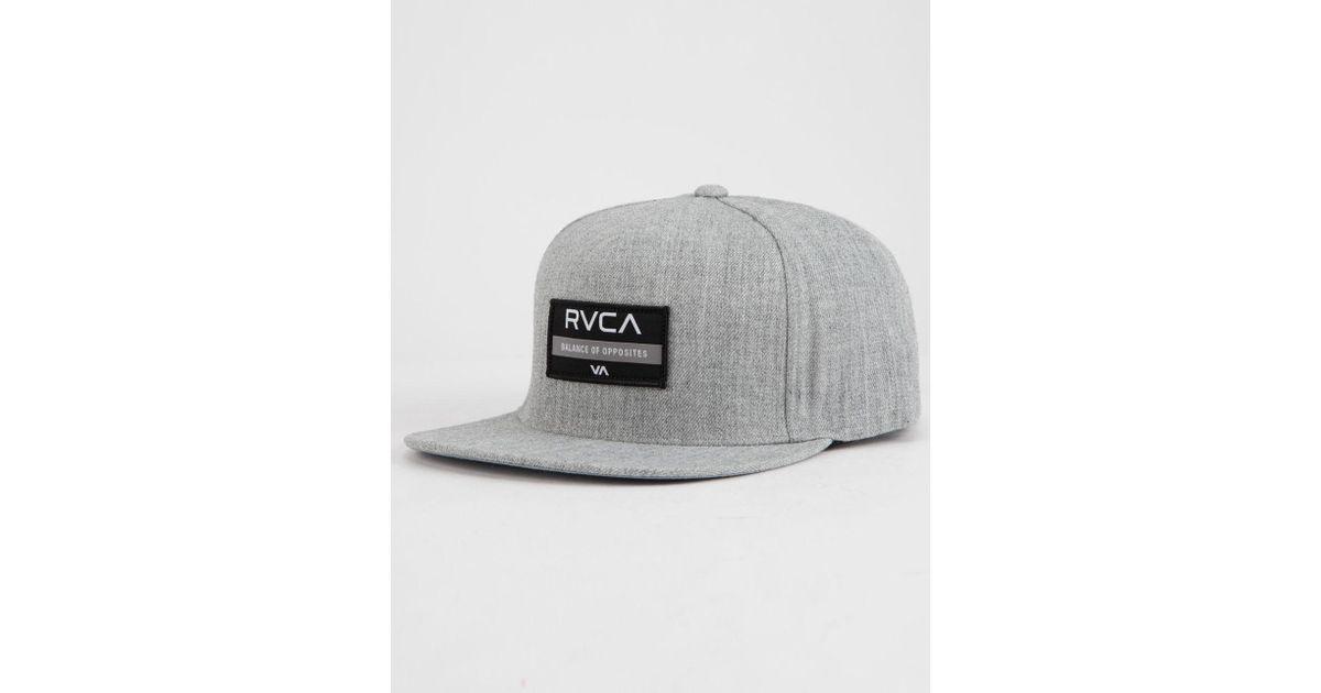 d56c0ba736c Lyst - Rvca Territory Mens Snapback Hat in Gray for Men