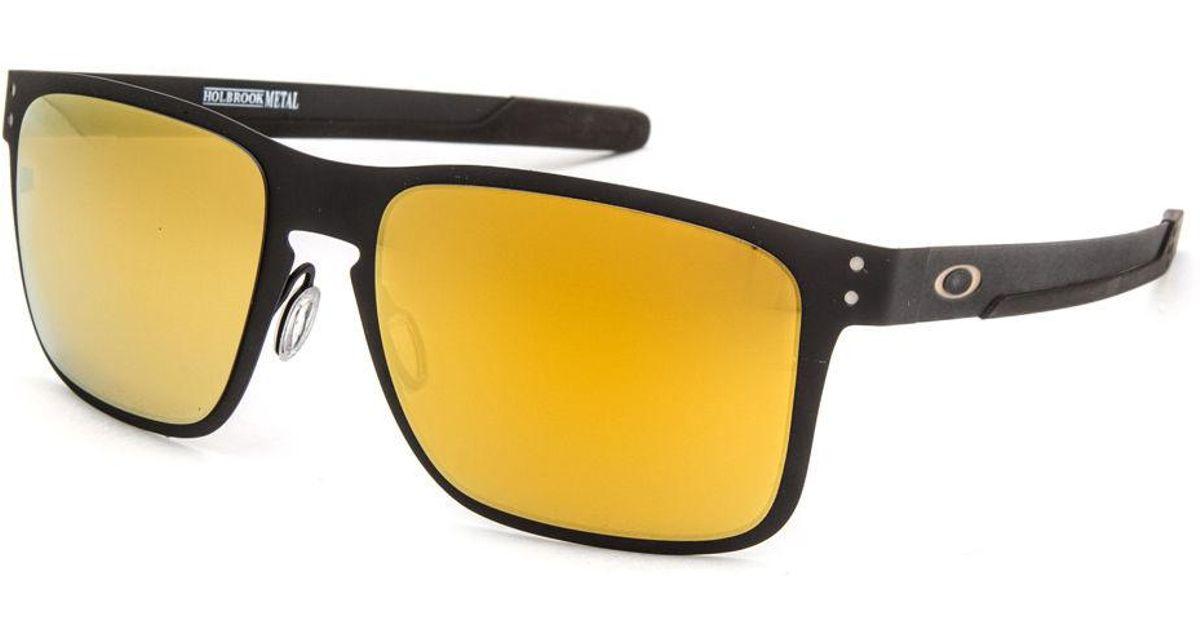 00b83a0be7f Lyst - Oakley Holbrook Metal Matte Black   24k Iridium Sunglasses in Black  for Men
