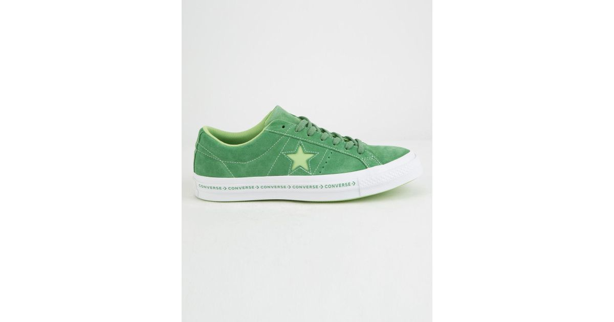 Lyst - Converse One Star Shoes (trainers) in Green for Men 4ef683a01