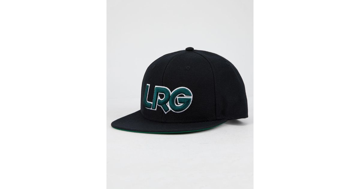 97a1d7c29cb Lyst - LRG Interception Black Mens Snapback Hat in Black for Men