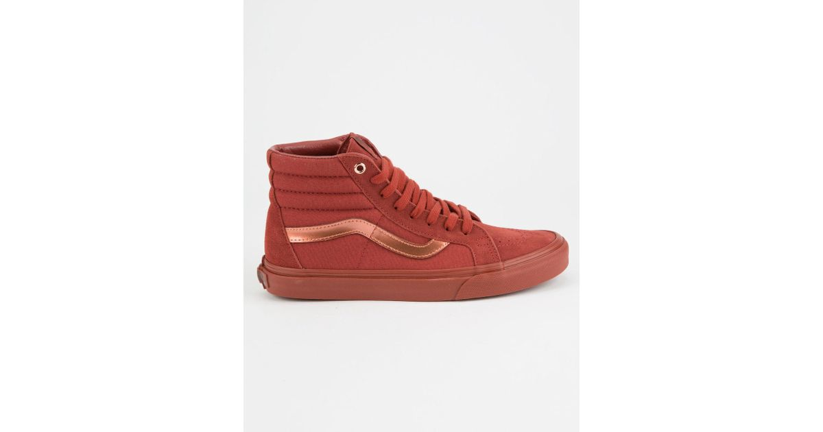e686b46f26 Lyst - Vans Mono Metallic Sk8-hi Reissue Womens Shoes in Red
