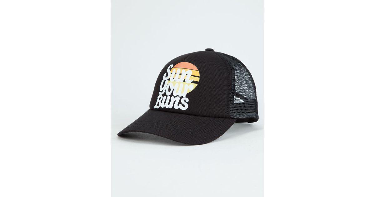 sale retailer cdccc 86a7c ... new zealand lyst billabong sun your bunz womens trucker hat in black  for men ac77a e4be1