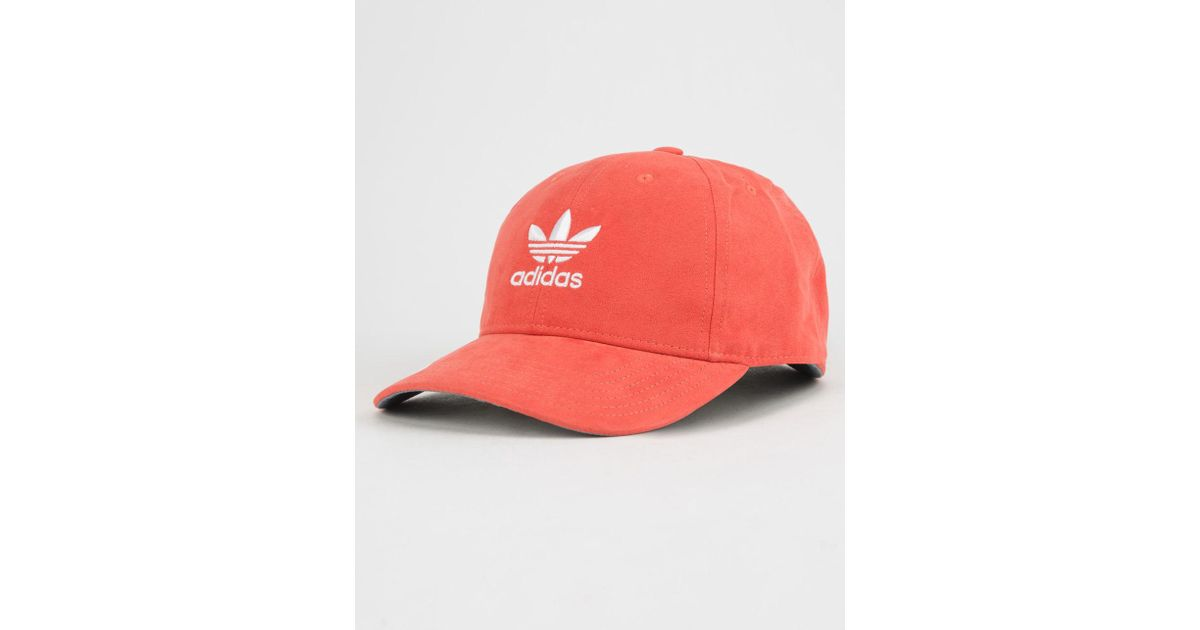 17625d64473 Lyst - adidas Originals Relaxed Plus Red Womens Strapback Hat in Red for Men