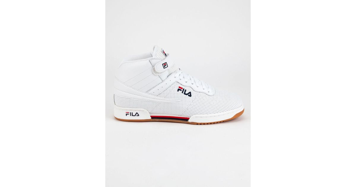 suositut kaupat yksityiskohtaiset kuvat uusi luettelo Fila White F-13 Perf Mens Shoes for men