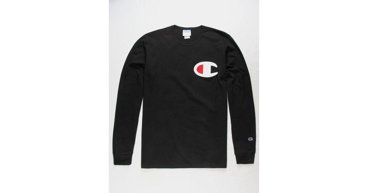 a92081db1e Lyst - Champion C Applique Logo Black Mens T-shirt in Black for Men