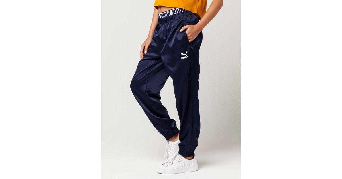 0e0757f32115 Lyst - PUMA Super Womens Track Pants in Blue