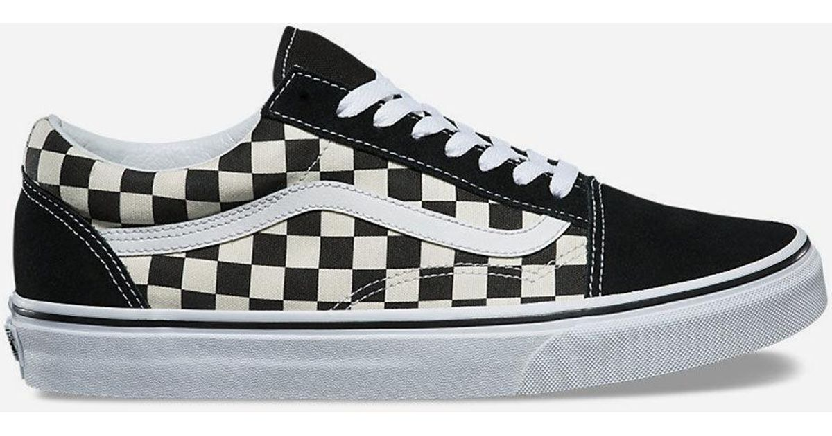 3f370dc3cf9 Lyst - Vans Primary Check Old Skool Black   White Shoes in Black for Men - Save  23%