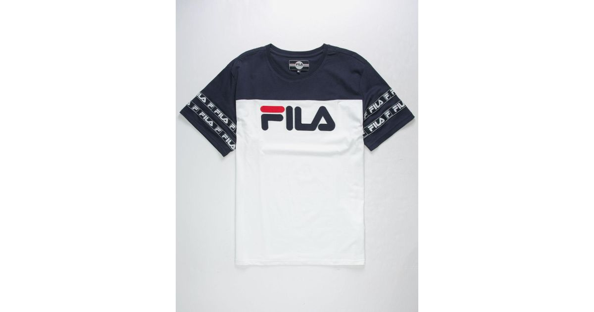 48a6a324 Fila Tag Logo Mens T-shirt in Blue for Men - Lyst