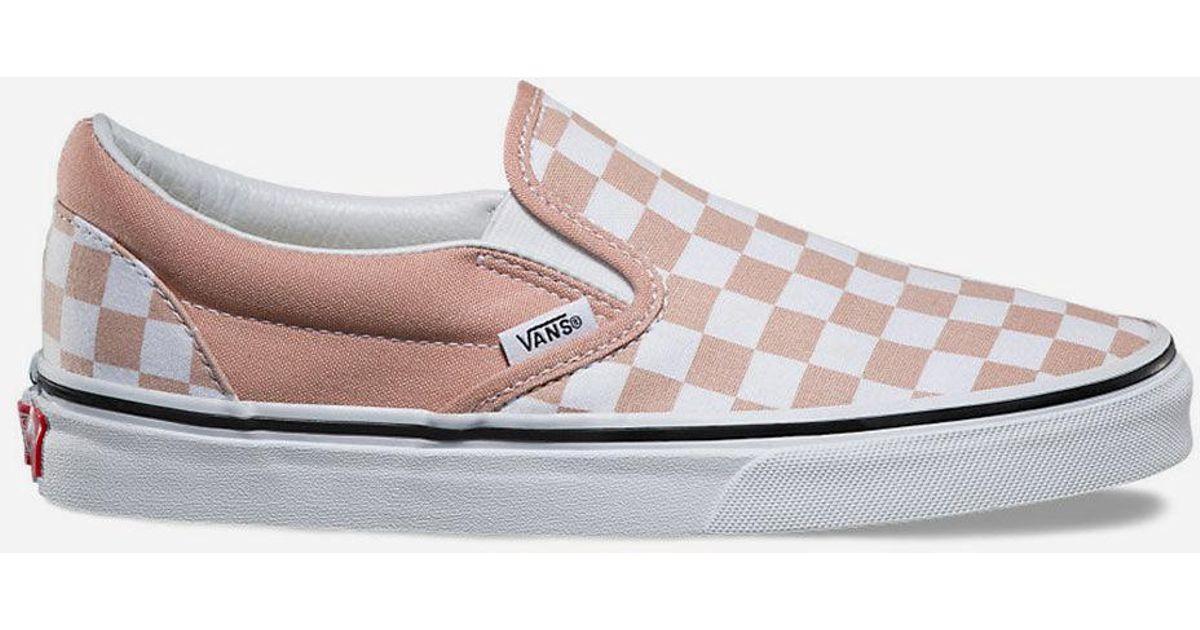 995870b40d30 Lyst - Vans Checkerboard Slip-On Womens Shoes