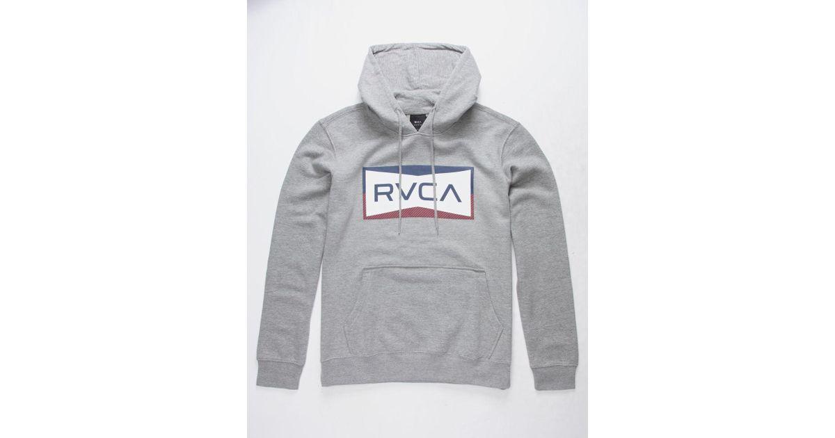 RVCA Mens VA Sport Shade Big RVCA Mens Pullover Hoodie Athletic Heather Gray