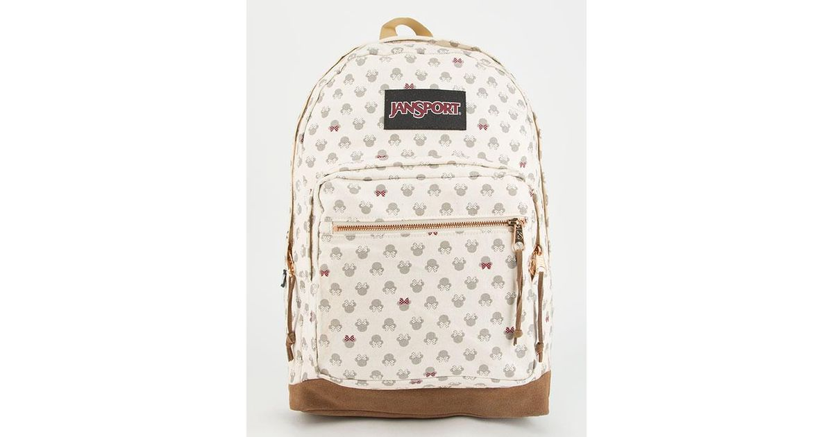 116bfa792e6 Lyst - Jansport X Disney Luxe Minnie Right Pack Backpack in Natural