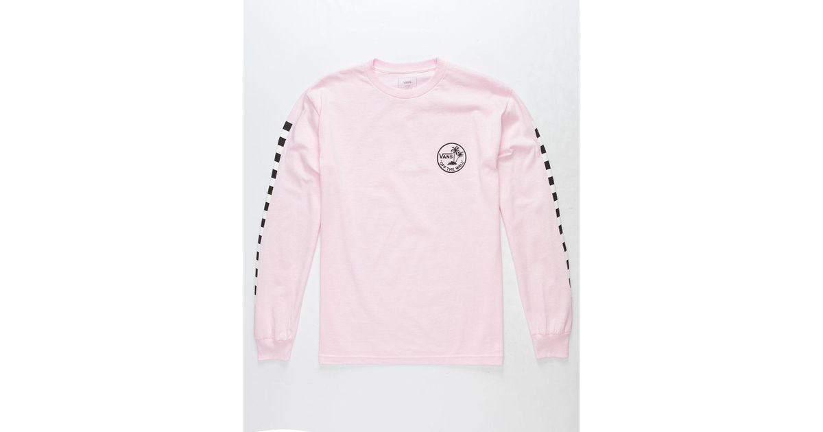 91921603a10 Lyst - Vans Palm Checkmate Mens T-shirt in Pink for Men
