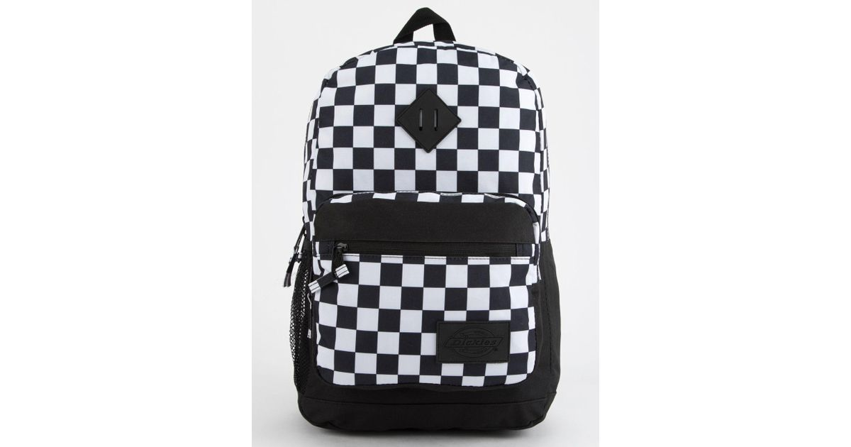 c7c07ee93003 Lyst - Dickies Study Hall Checkered Backpack in Black