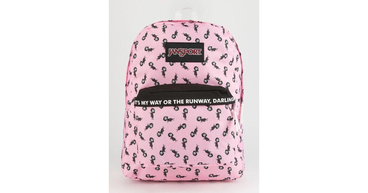 6a8a223c8c5 Lyst - Jansport X Disney Pixar Incredibles 2 Edna Superbreak Backpack in  Pink
